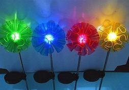 Sogrand 4 Color Assort Decoration Stake Light Set of 4 Solar