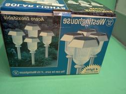 4 CT WESTINGHOUSE STAINLESS STEEL SOLAR PATHWAY LIGHTS #3497