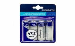 Westinghouse 4-Pack, 18500 3.7V 1000mAh Lithium-Ion Recharge
