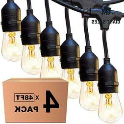 4 Pack 48 Ft Outdoor String Lights Commercial Great Weatherp