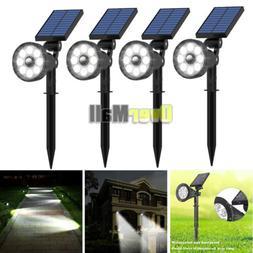 4 Pack 6 LED Solar Garden Lamp Spot Light Outdoor Lawn Lands