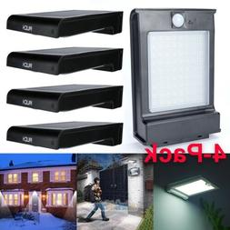 4 Pack 72 LED Solar Power Gutter Security Wall Light Motion