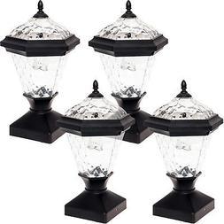 4 Pack Greenlighting Adonia Solar Post Cap Light for 4 x 4 N