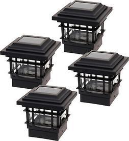 4 Pack GreenLighting Classica High Lumen Deck Fence Solar Po