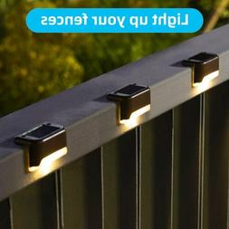 4 PACK LED Solar Powered Light Outdoor Garden Security Wall
