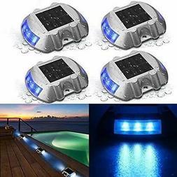 4 Pack Solar Deck Lights LED Dock Light Solar Lights Step Ro