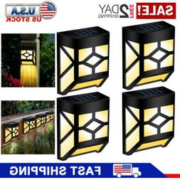 GIGALUMI 4 Pack Solar Deck Lights Wall Lights Outdoor Waterp