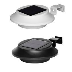 4 Pack Solar Garden Gutter Lights 6 LEDs Outdoor Security Wa