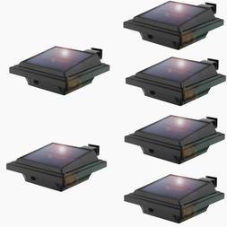 6pcs Solar Powered Gutter Lights 25LEDs Outdoor Waterproof W