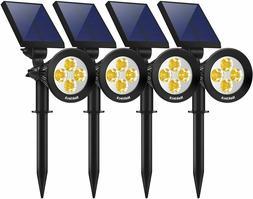 4 Pack Solar Light Outdoor 2-in-1 Outdoor Solar Spotlights P
