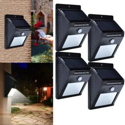 4 Pack - Solar Power Sensor Wall Light Security Motion Weath
