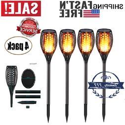 4 Pack Solar Torch Lights, 96 Led, Outdoor Dancing Flickerin