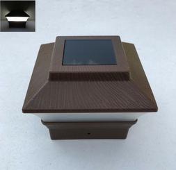 1/2/4/6/8/10/12-Pc Soar Dark Brown Texture Cap LED Light For