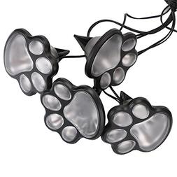 Briday 4 Solar Dog Animal paw Print Lights Garden Lantern De