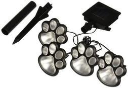 Briday Hot 4 Solar Dog Cat Animal Paw Print Lights Garden Ou