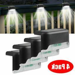 4 Solar LED Bright Deck Lights Outdoor Garden Patio Railing