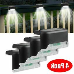 4 solar led bright deck lights outdoor