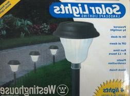 Westinghouse 4 Solar Path Lights, Waterproof, Glass  Black P