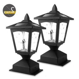 4 x 4 Solar Post Lights Outdoor, Solar Lamp Post Cap Lights