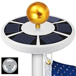 42 LED Solar Flag Pole Lights, Blinngo IP65 Waterproof Flagp