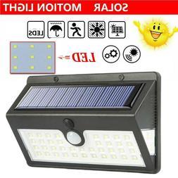 44LED Solar Power Light PIR Motion Sensor Security Outdoor G
