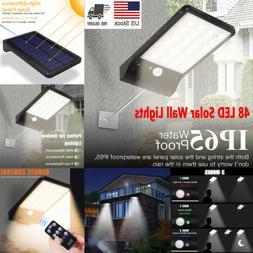 48 LED Solar Lights Motion Sensor Wall Light Outdoor Waterpr