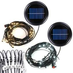48LED Solar String Light Fit 10ft 8 rib Outdoor Patio Offset