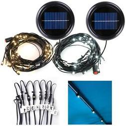 48 LED Solar String Light Fit 8-Rib 10ft Aluminum Outdoor Pa