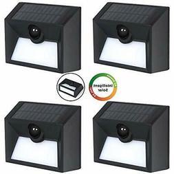 4Pack Solar Lights Outdoor 20 SMD LEDs Motion Sensor 300 Lum