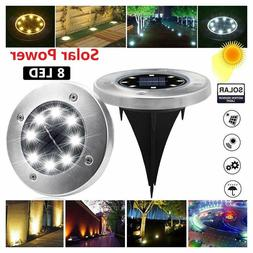 4pcs 8led walk lights solar lamp garden