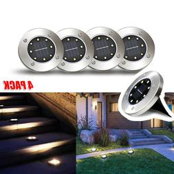 4pcs solar power ground lights floor decking