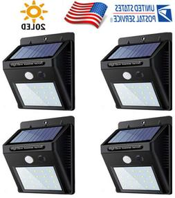 4PK 20LED Solar Power PIR Motion Sensor Garden Yard Wall Out