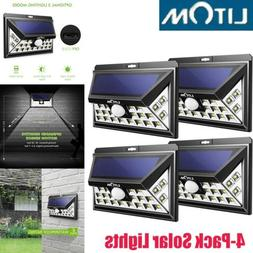 4X LITOM 24LED Solar Powered Light Outdoor Garden Patio Wall