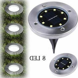 LED Solar Disk Lights Buried Light Outdoor Garden Under Grou