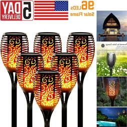 4x led solar power outdoor torch lights