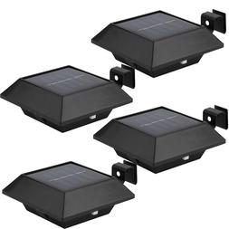 4x LED Solar Powered Light Outdoor Garden Security Wall Fenc