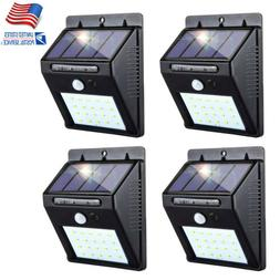 4x Outdoor 20 LED Solar Light Power PIR Motion Sensor Garden