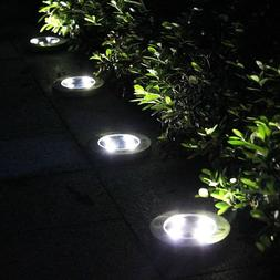 4 x solar ground lights yard garden