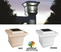 4X4 CLASSY SOLAR POST CAP LED DECK FENCE LIGHTS TAN OR WHITE