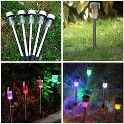 5PCS Stainless Steel Solar LED Lights For Outdoor Garden Pat
