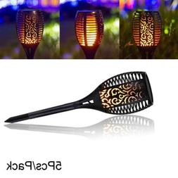 5 X96LED Solar Torch Light Outdoor Flame Solar Path Torches