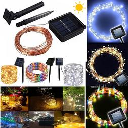 50-100 LED Solar Power Fairy Lights String Lamps Party Xmas