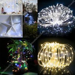 50 - 200 Led Solar Power Fairy Light String Lamp Party Xmas