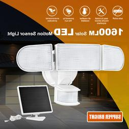 1600LM LED Solar Security Lights Motion Outdoor, Super Brigh