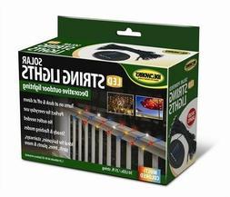 50 Solar Powered LED String Lights 25ft Outdoor Decorative U