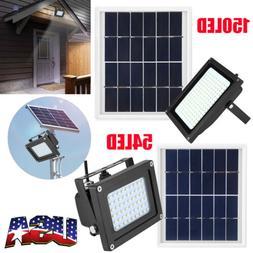 New 54/150 LED Solar Power Motion Sensor Flood Spot Light Ou