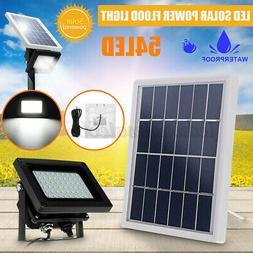 54 LED Waterproof Solar Powered Sensor Flood Light Outdoor G