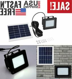 54 LED Waterproof Solar Powered Sensor Flood Light Outdoor G