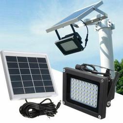 54LED Waterproof Solar Powered Sensor Flood Light Outdoor Ga