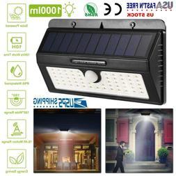 55LED Solar Power PIR Motion Sensor Wall Light Outdoor Garde
